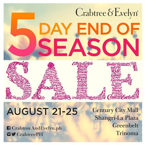 Crabtree and Evelyn End of Season Sale August 2014
