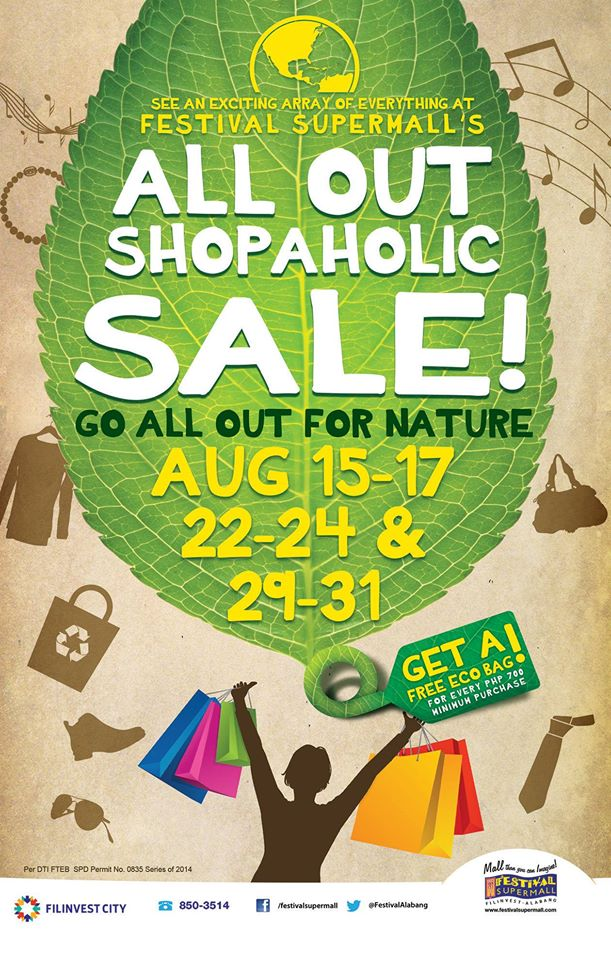 Festival Supermall All Out Shopaholic Sale August 2014