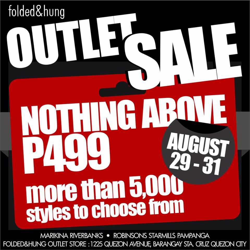 Folded & Hung Outlet Sale August 2014