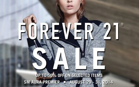 Forever 21 3-Day Sale @ SM Aura August 2014