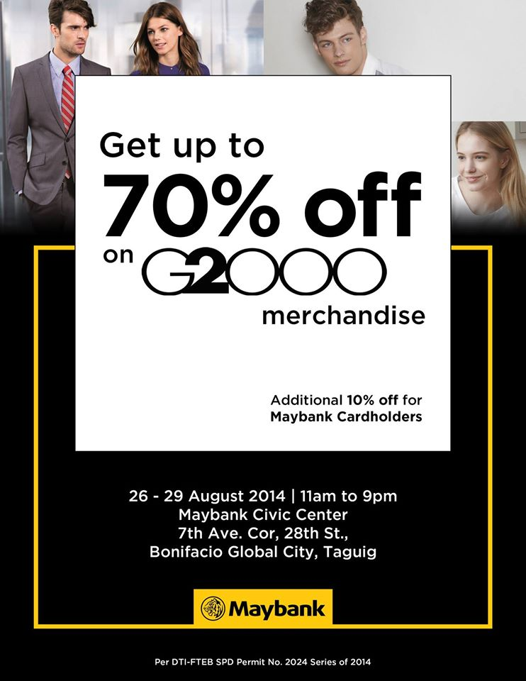 G2000 Sale @ Maybank Civic Center, BGC August 2014