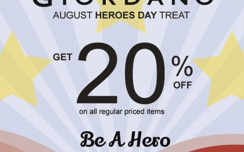 Giordano Heroes Day Treat August 2014