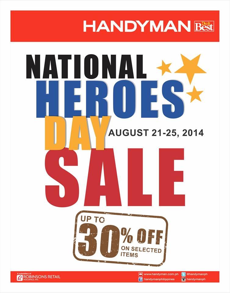 Handyman National Heroes Day Sale August 2014