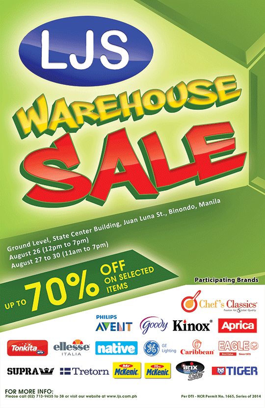 LJS Warehouse Sale @ State Center Investment Building August 2014