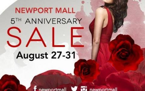 Newport Mall Anniversary Sale August 2014