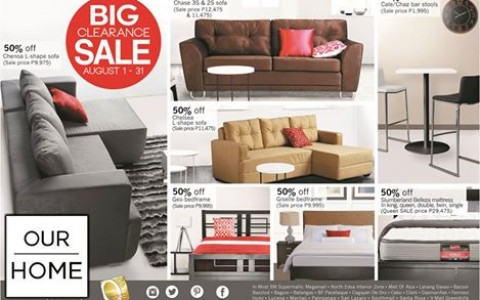 Our Home Big Clearance Sale August 2014