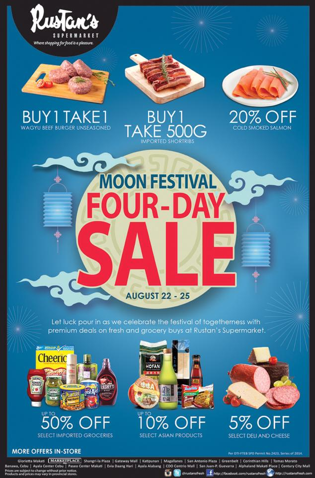 Rustan's Supermarket Moon Festival Sale August 2014