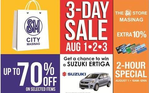 SM City Masinag 3-Day Sale August 2014