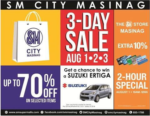 SM City Masinag 3-Day Sale August 2014