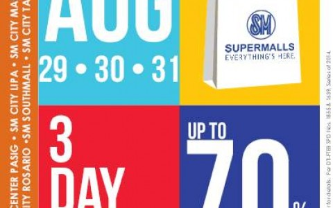 SM Supermalls 3-Day Sale August 2014