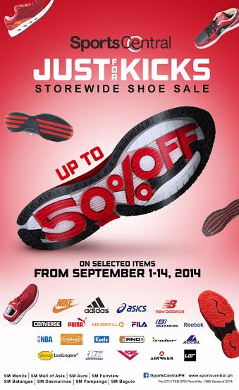 Sports Central Just For Kicks Sale September 2014