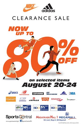 Sports Central's Nike & Adidas Clearance Sale @ SM Megatrade Hall August 2014