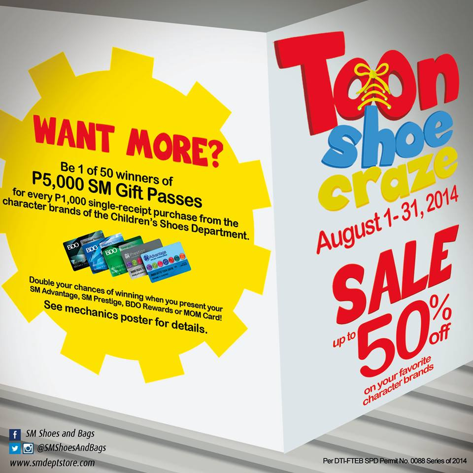 The SM Store Toon Shoe Craze August 2014