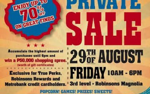 True Value A Private Sale @ Robinsons Magnolia August 2014