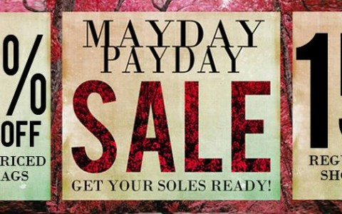 Wade Shoes and Accessories Mayday Payday Sale August 2014