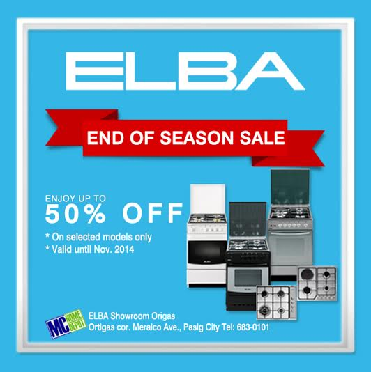 ELBA End of Season Sale @ MC Home Depot Ortigas September - November 2014