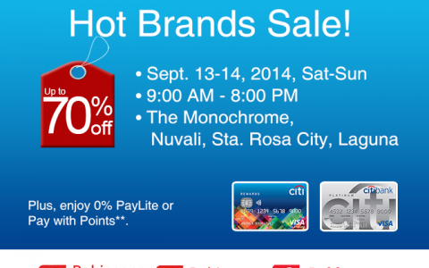 Hot Brands Sale @ The Monochrome Nuvali September 2014