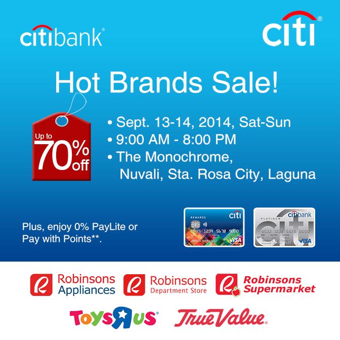 Hot Brands Sale @ The Monochrome Nuvali September 2014