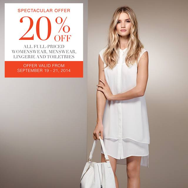 Marks & Spencer Spectacular Offer Sale September 2014