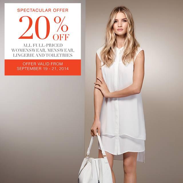 Marks & Spencer Spectacular Offer Sale September 2014