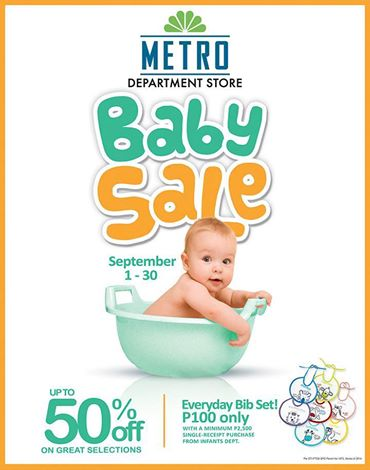 Metro Department Store Baby Sale September 2014