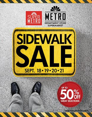 Metro Department Store and Super Metro Sidewalk Sale September 2014