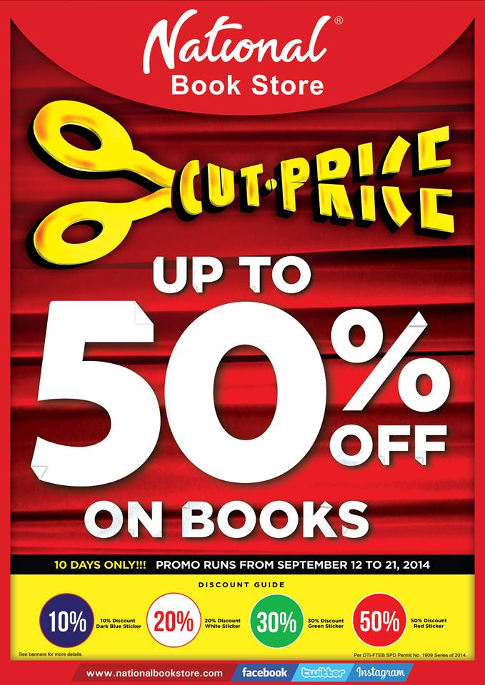 National Book Store Cut Price Sale September 2014