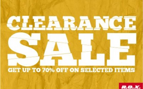 R.O.X. Clearance Sale September - October 2014