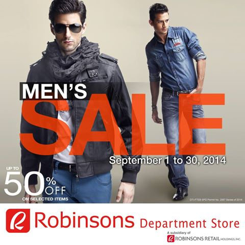 Robinsons Department Store Mens Sale September 2014