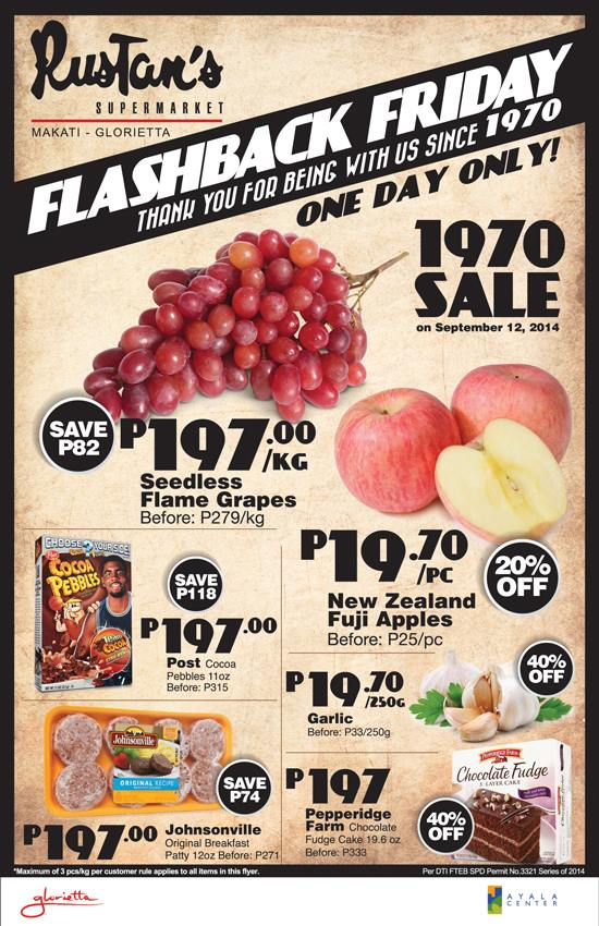 Rustans Supermarket Flashback Sale @ Rustans Makati-Glorietta September 2014