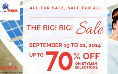 SM Mall of Asia Big Big Sale September 2014