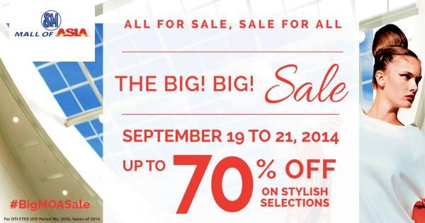 SM Mall of Asia Big Big Sale September 2014