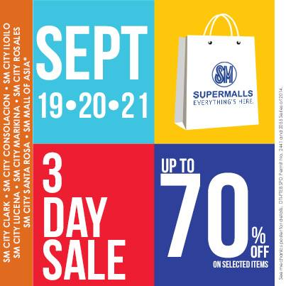 SM Supermalls 3-Day Sale September 2014