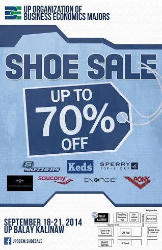 Shoe Sale @ UP Balay Kalinaw September 2014