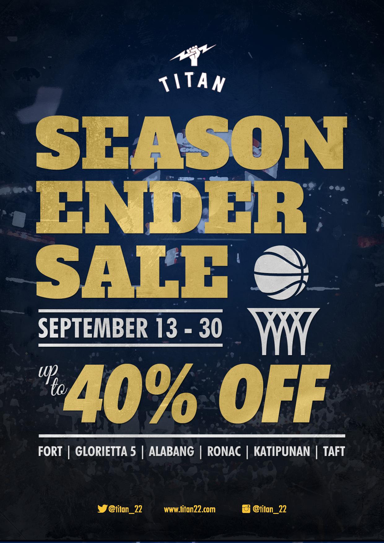 Titan Season Ender Sale September 2014