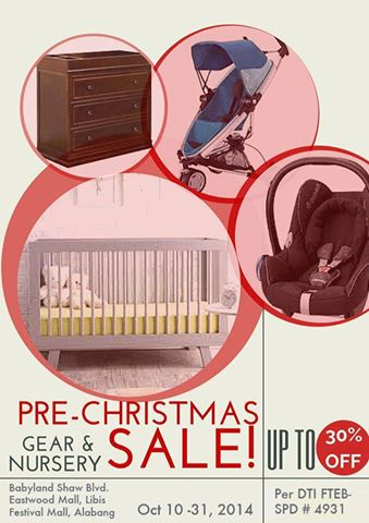 Babyland Pre-Christmas Sale October 2014