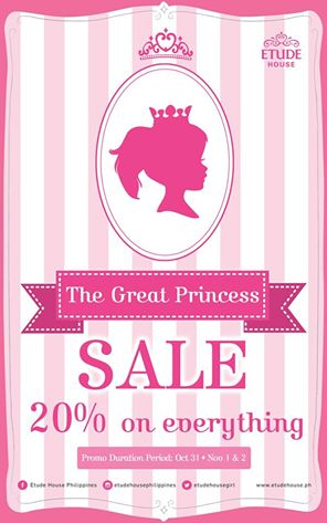 Etude House The Great Princess Sale October - November 2014