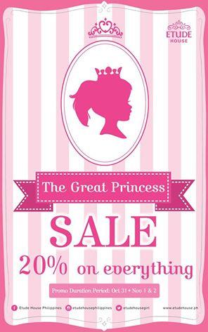 Etude House The Great Princess Sale October - November 2014