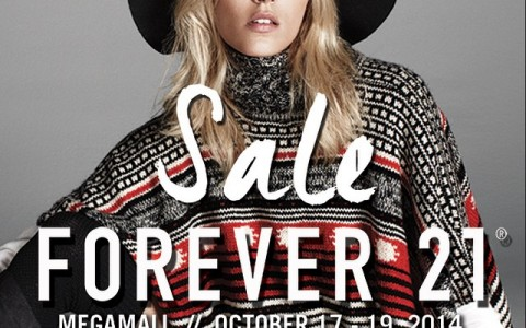 Forever 21 3-Day Sale @ SM Megamall October 2014