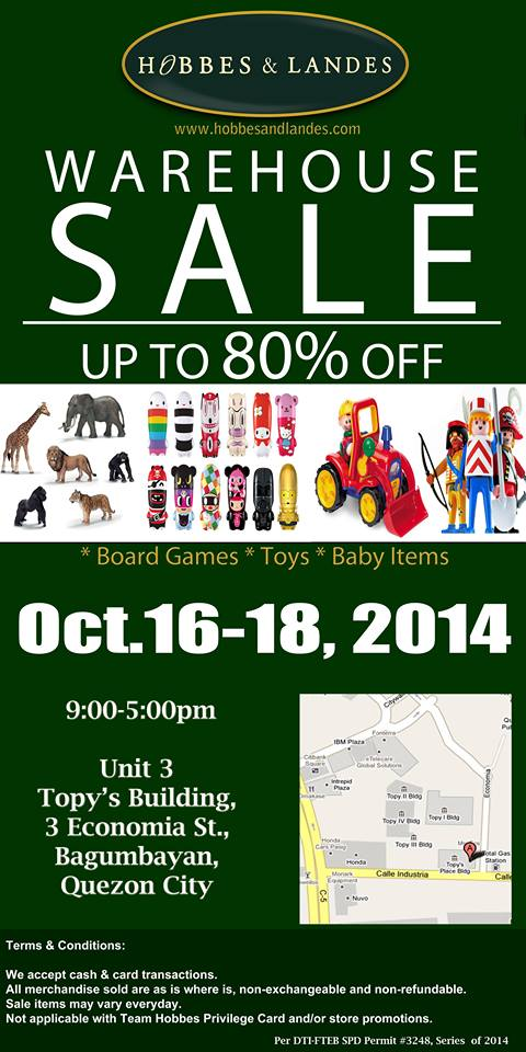 Hobbes & Landes Warehouse Sale @ Topys Building October 2014