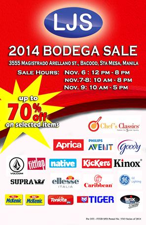 LJS Bodega Sale November 2014