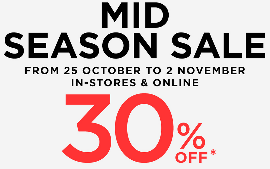 Mango Mid-Season Sale October - November 2014