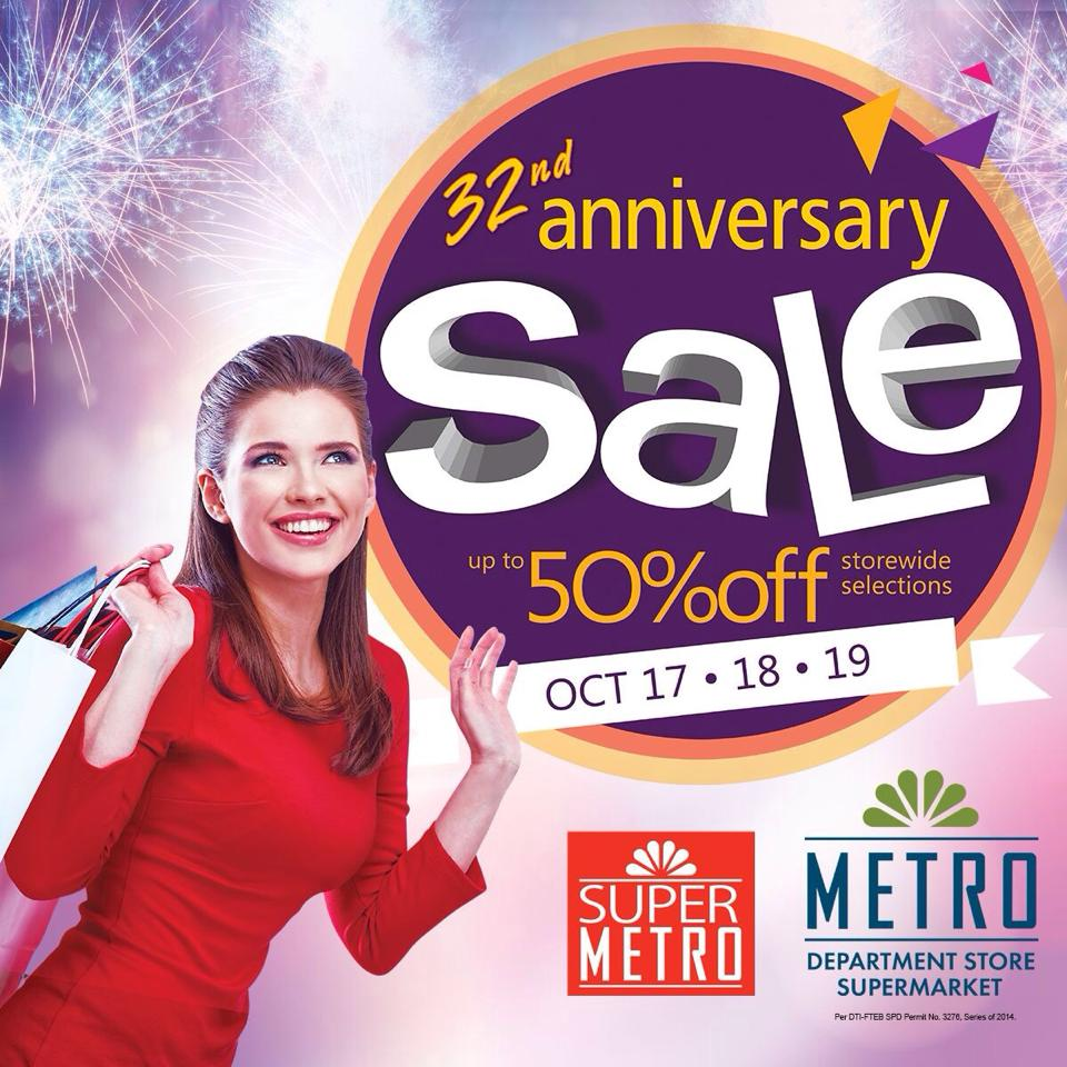 Metro Department Store & Super Metro Anniversary Sale October 2014