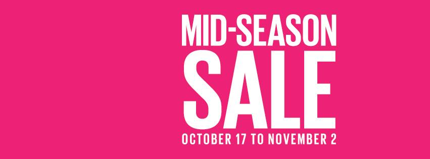 Parfois Mid-Season Sale October - November 2014