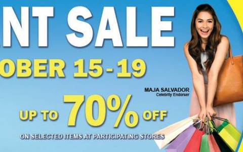 Robinsons Malls Giant Sale October 2014