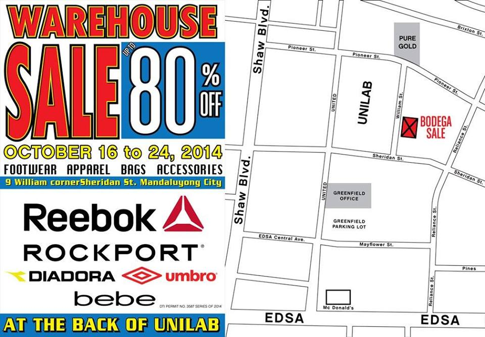 Royal Sporting House Warehouse Sale October 2014