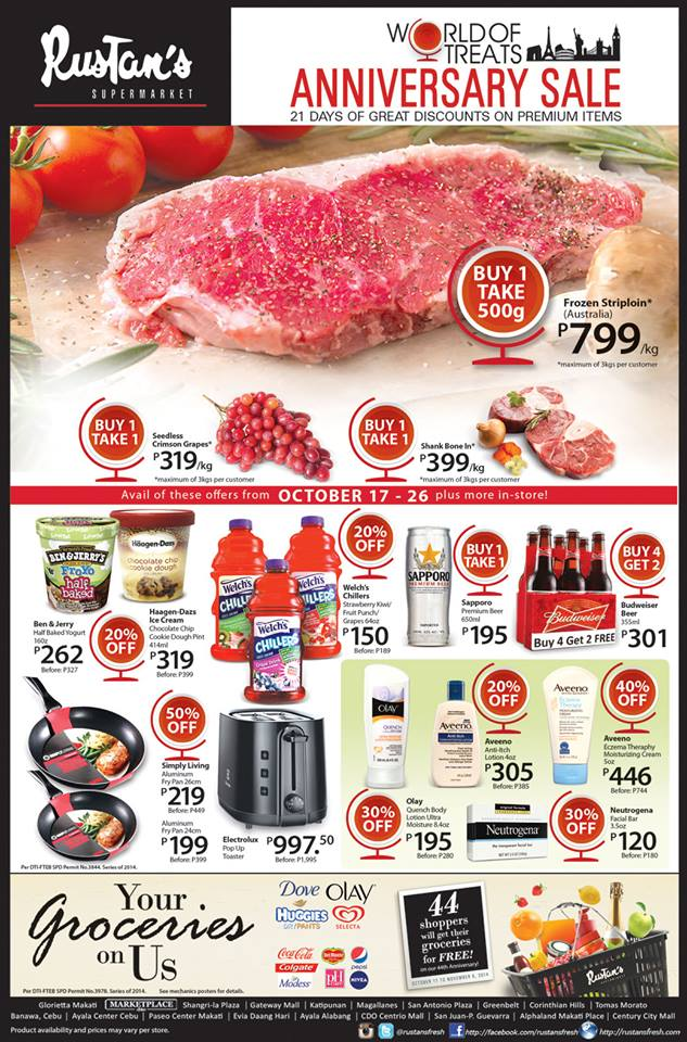 Rustan's Supermarket Anniversary Sale October 2014
