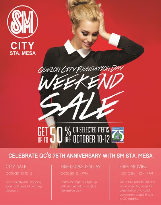 SM City Sta. Mesa Weekend Sale October 2014
