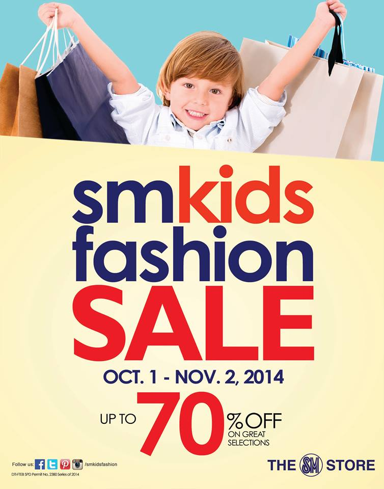 SM Kids Fashion Sale October - November 2014