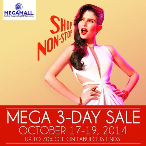 SM Megamall Mega 3-Day Sale October 2014